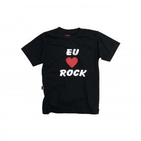 camiseta bebe i love rock 100 algodao bb004