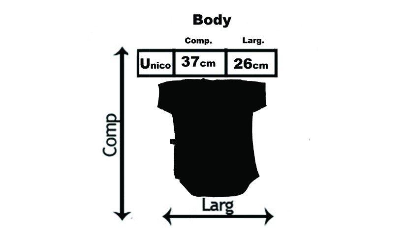 tabela de medidas body bebe descricao