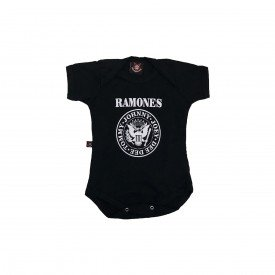 body bebe ramones logo preto by006