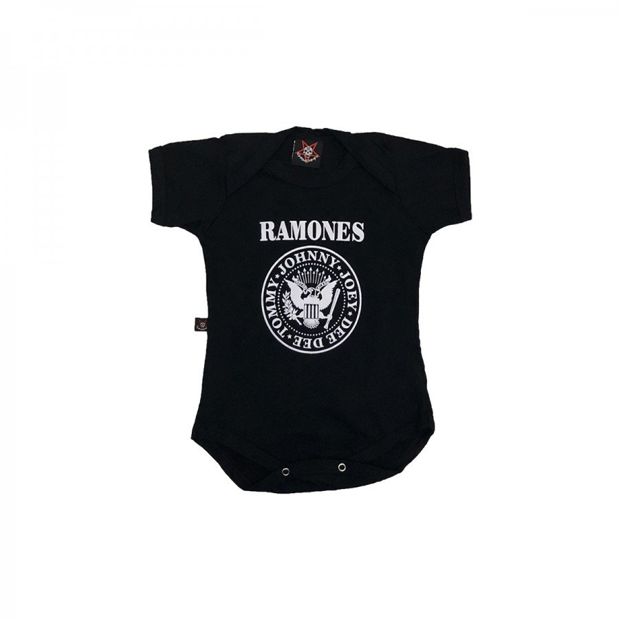 body bebe ramones logo preto by006