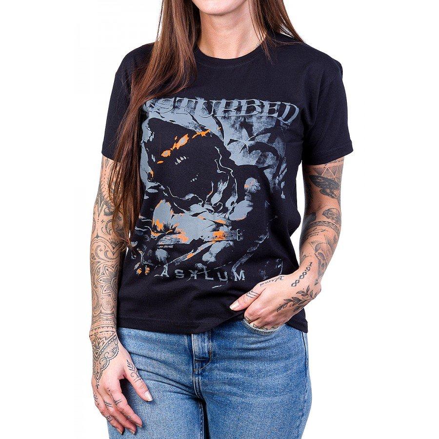 camiseta disturbed asylum preta 2612 4