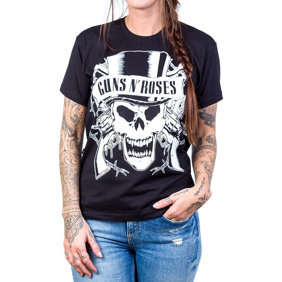 camiseta guns n roses logo caveira 100 algodao 136 4