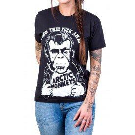camiseta arctic monkeys macaco fumando cigarro gola redonda 2739 3