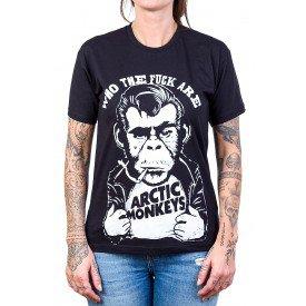 camiseta arctic monkeys macaco fumando cigarro gola redonda 2739 1