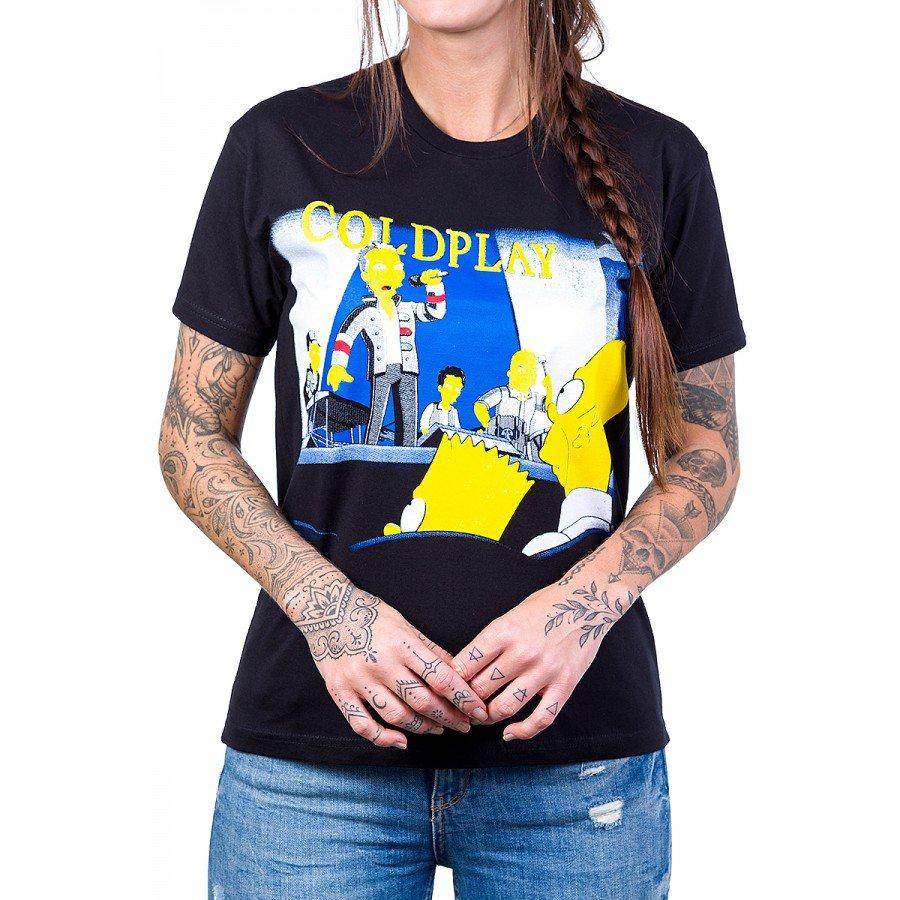 camiseta coldplay simpsons 100 algodao 2587 1