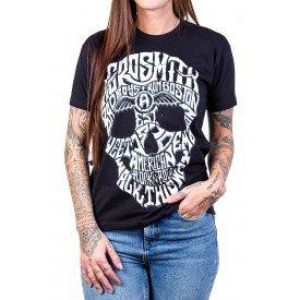 camiseta aerosmith caveira manga curta 2788 4