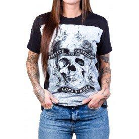 camiseta guns n roses sex drugs guns n roses preta 2575 3