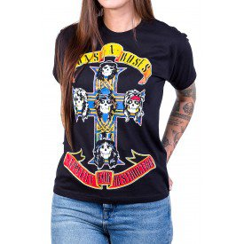 camiseta guns n roses appetite for destruction manga curta 2586 4