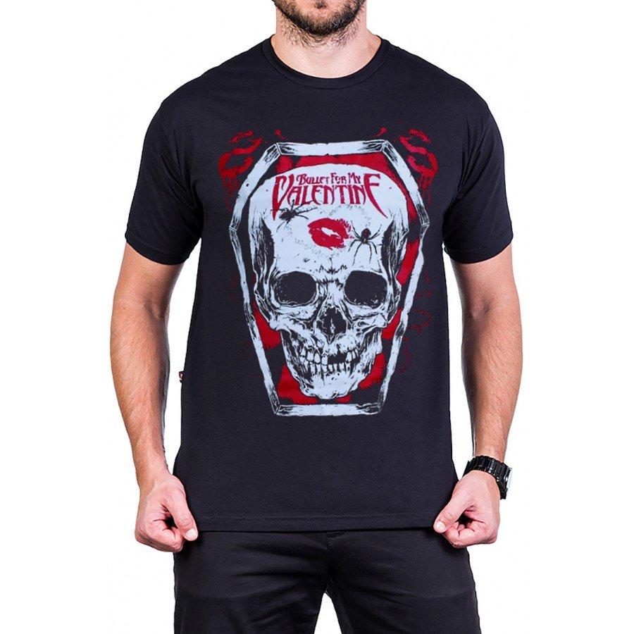 camiseta bullet for my valentine logo caveira reforco de ombro a ombro 2598 2