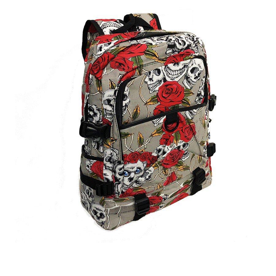 mochila caveira e rosas 1