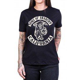 camiseta sons of anarchy filhos da anarquia logo preta 2764 3