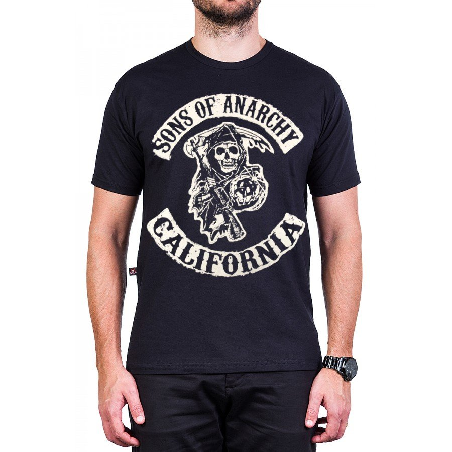 camiseta sons of anarchy filhos da anarquia logo masculino 2776 1