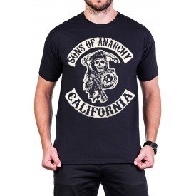 camiseta sons of anarchy filhos da anarquia logo masculino 2776 3
