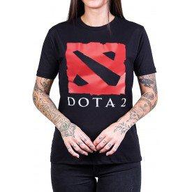 camiseta dota 2 logo com estampa 2730 2
