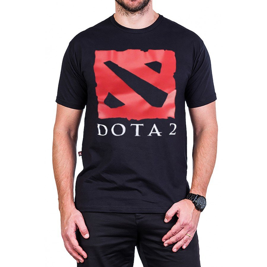 camiseta dota 2 logo manga curta 2730 3