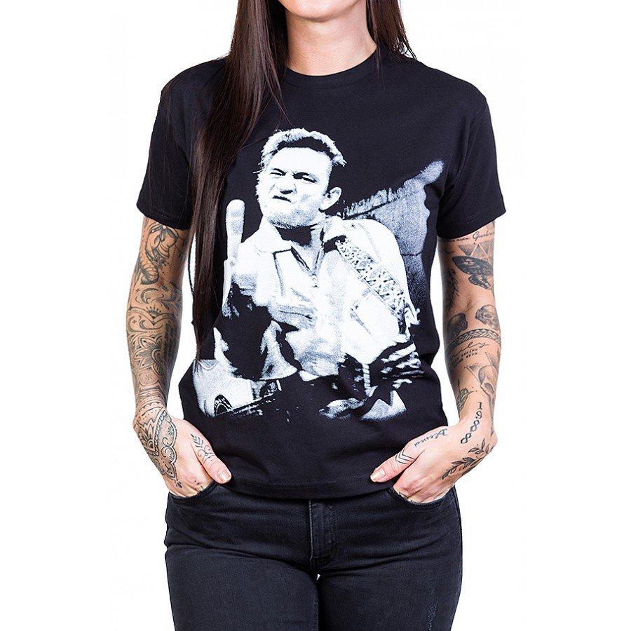 camiseta johnny cash foto do dedo do meio feminino 2515 1