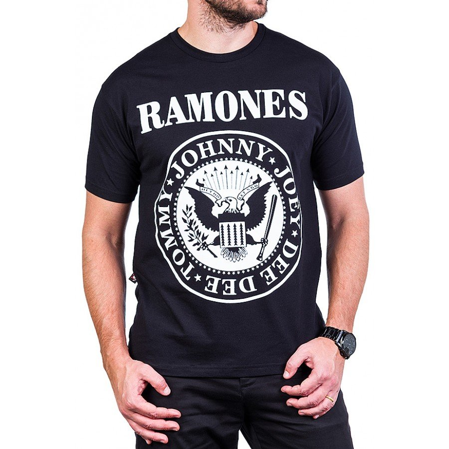camiseta ramones logo estampa frente e costas 2600 4