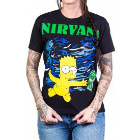 camiseta nirvana simpsons bart estampa frente e costas 250 4