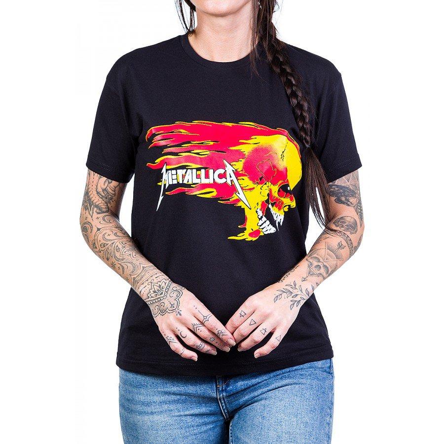 camiseta metallica caveiras em chama 100 algodao 160 4