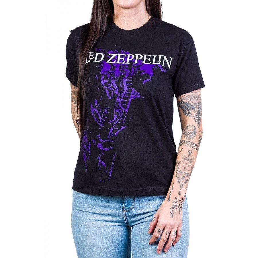 camiseta led zeppelin escada preta 375 4