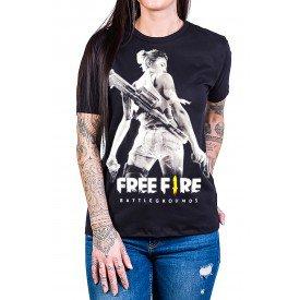 camiseta free fire mulher armada gola c elastano 2856 1