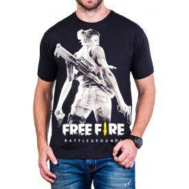 camiseta free fire mulher armada 100 algodao 2856 4