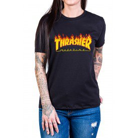 camiseta thrasher magazine logo fogo gola c elastano 2862 2