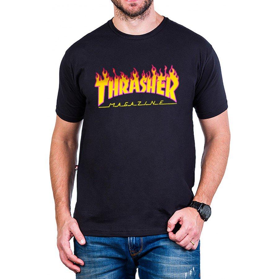 camiseta thrasher magazine logo fogo 100 algodao 2862 2