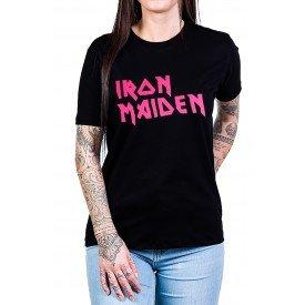 camiseta iron maiden escrita rosa 2752 1