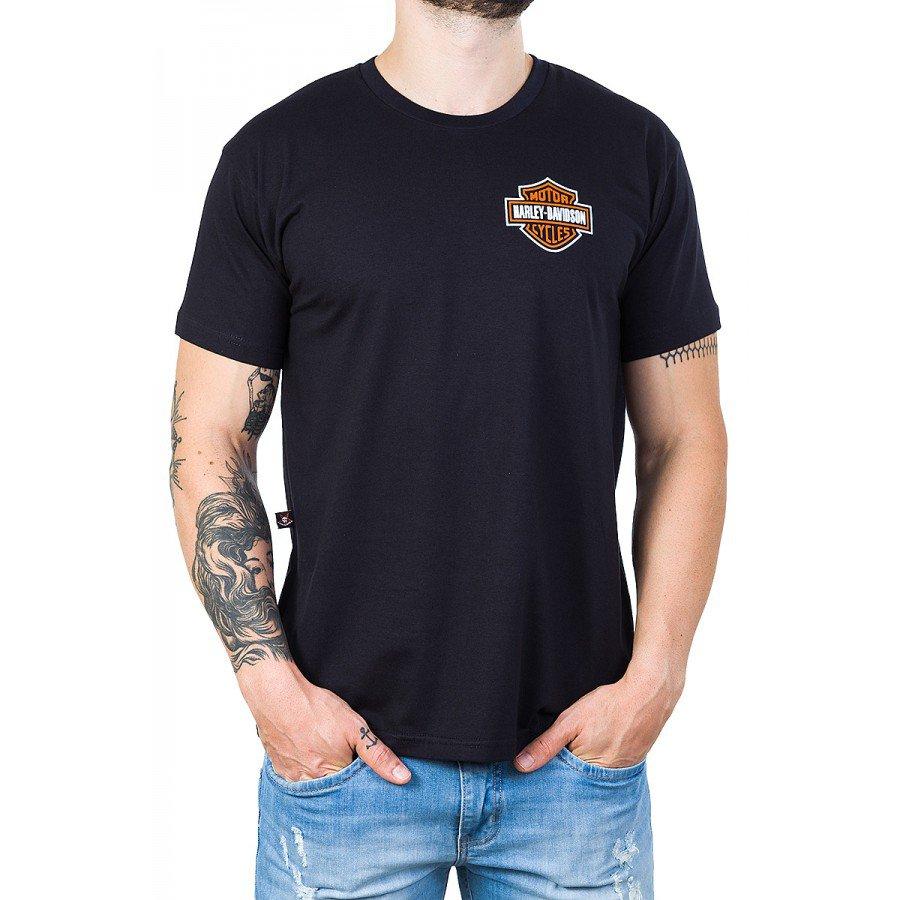 camiseta harley davidson logo invertido preta 2686 2