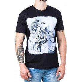 camiseta motocross preta 100 algodao 2587 1
