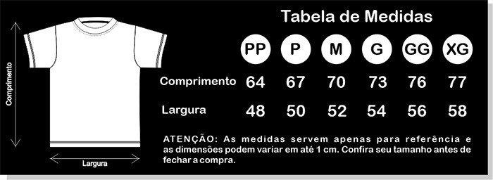 Tabela de Medidas Oficial Preta Descrio