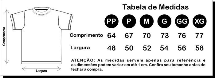 Tabela de Medidas Oficial Branca Descrio