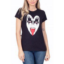 t shirt feminina kiss mascara de gene simmons 3