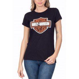t shirt feminina harley davidson logo 1