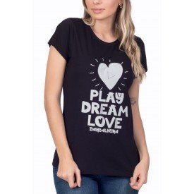 t shirt feminina play dream love 3