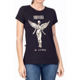 t shirt feminina nirvana in utero 1