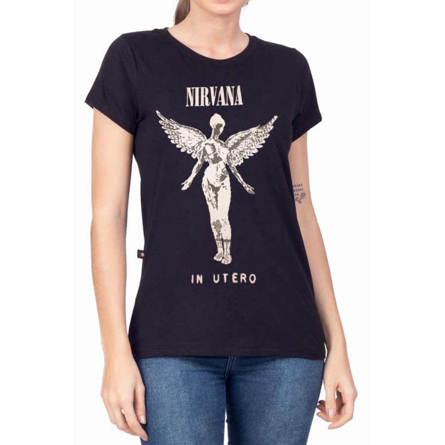 t shirt feminina nirvana in utero 1