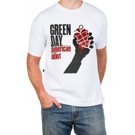 138 m pr camiseta green day american idiot masculina 3