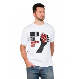 138 m pr camiseta green day american idiot masculina 4