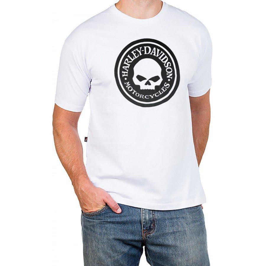 2684 m pr camiseta harley davidson logo redondo reforco de ombro a ombro 2