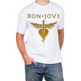 2723 m pr camiseta bon jovi greatest hits c estampa dourada 2