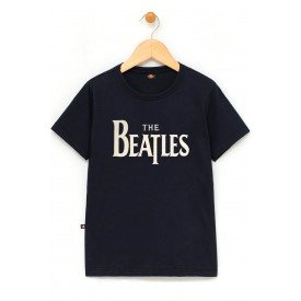 in627 u pr camiseta infantil the beatles escrita gola redonda