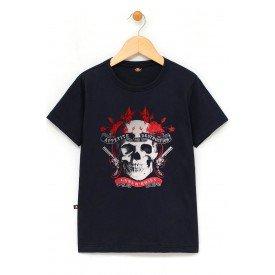 in854 u pr camiseta infantil guns n roses caveira armas manga curta