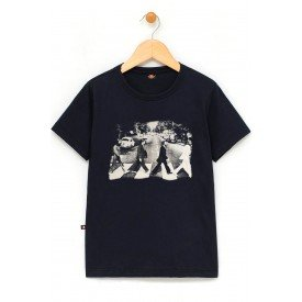 in818 u pr camiseta infantil the beatles abbey road faixa gola c elastano
