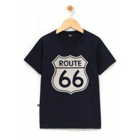 in829 u pr camiseta infantil rota 66 placa reforco de ombro a ombro