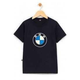 in884 u pr camiseta infantil bmw logo preta