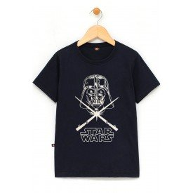 in891 u pr camiseta infantil star wars darth vader preta